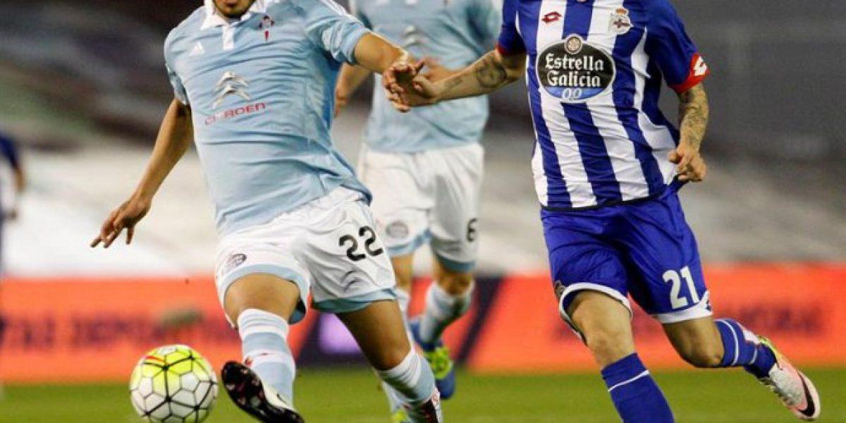 El Celta de los chilenos igualó en el clásico gallego ante Deportivo La Coruña