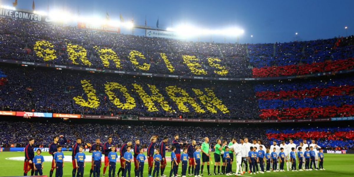Así fue el emotivo homenaje a Johan Cruyff en el Camp Nou