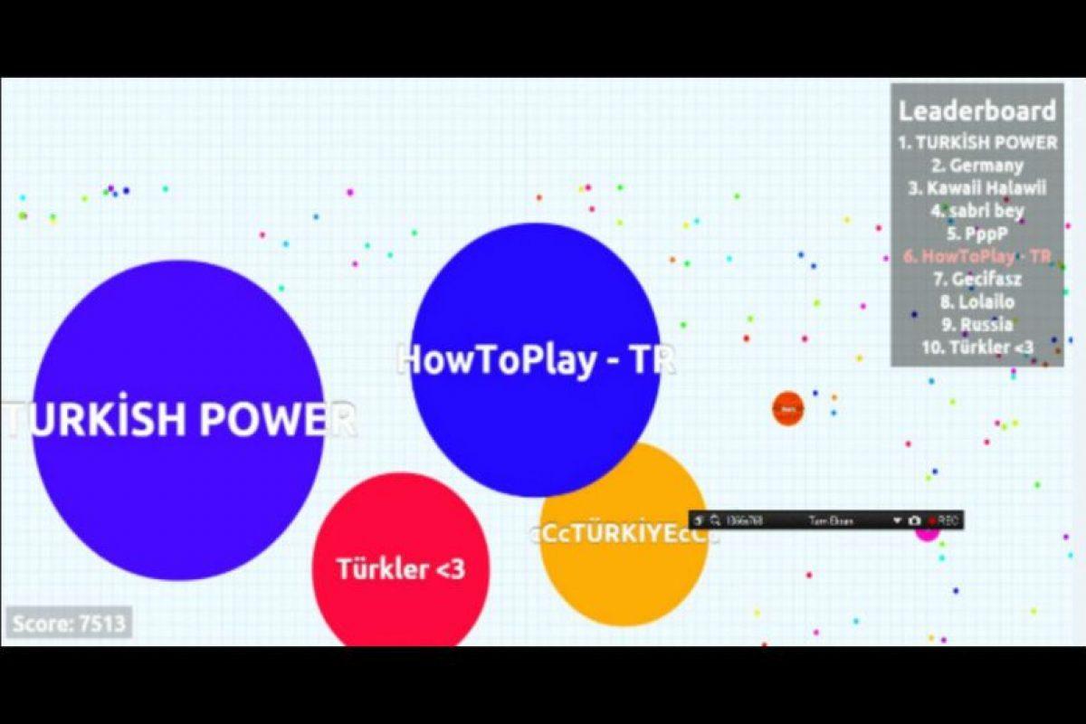 En este juego podrás enfrentarte a miles de usuarios de todo el mundo. Foto:Agar.io. Imagen Por: