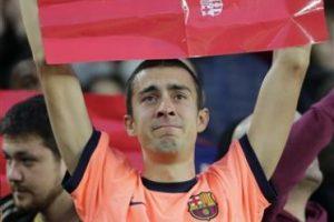 Por eso los aficionados del Barcelona lo despidieron con cariño Foto:AP. Imagen Por: