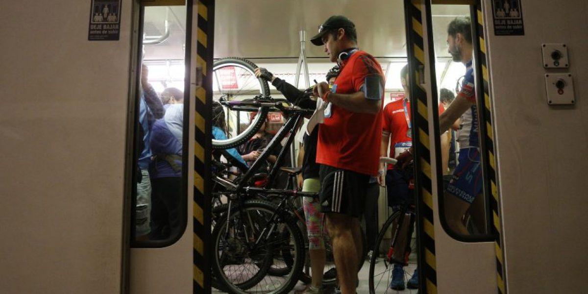 Exitazo la medida de Metro que permitió subir con bicicletas este domingo