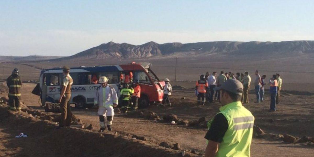 Dos muertos y diez heridos en accidente en ruta Antofagasta-Mejillones