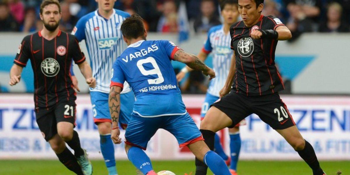 No pudo desequilibrar: Vargas ingresó en agónico empate del Hoffenheim