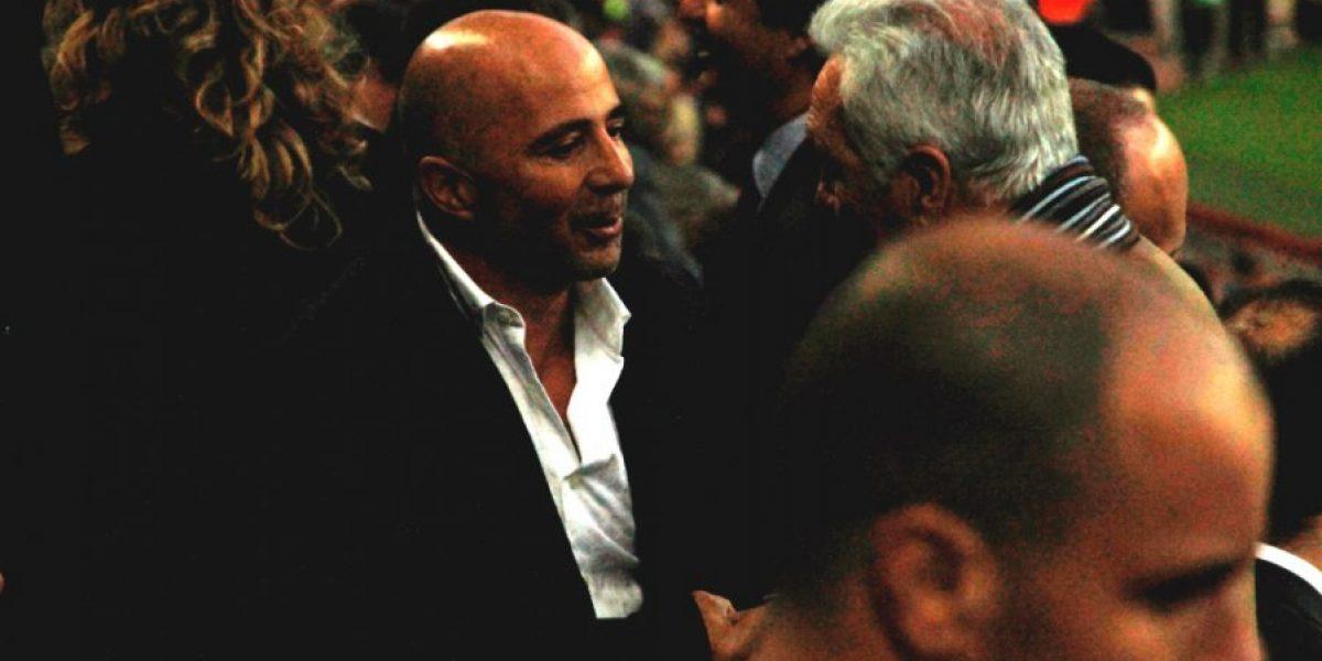 Jorge Sampaoli fue el invitado estelar que tuvo el Barcelona en el palco del Camp Nou