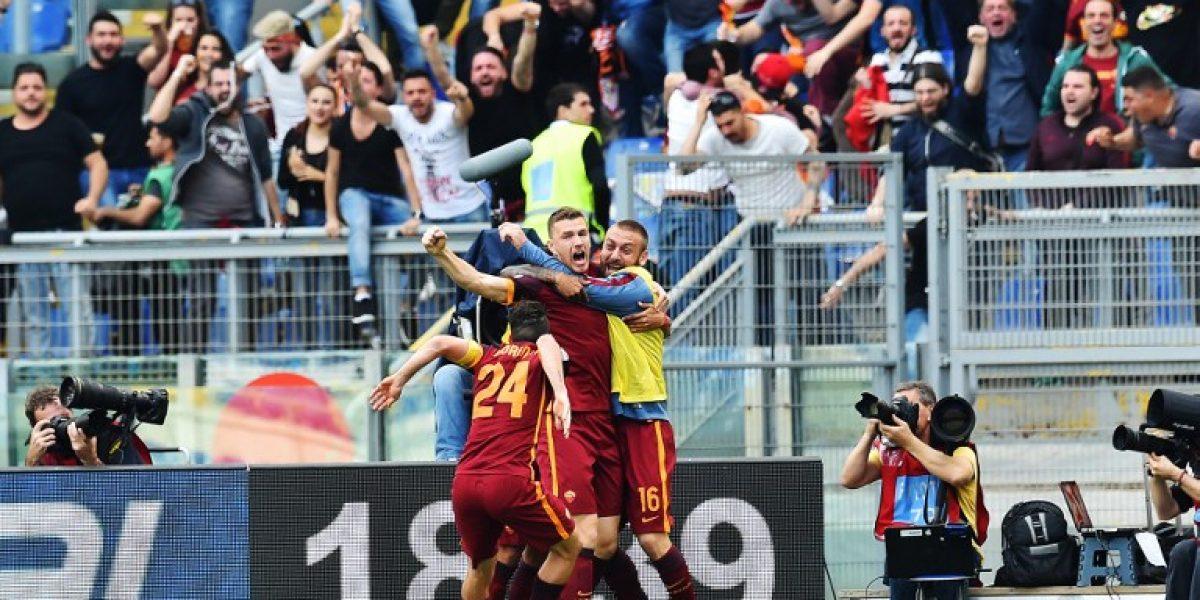 Roma no tuvo piedad y goleó a Lazio en el clásico de la capital italiana
