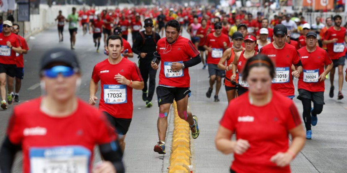 Atletas keniatas dominaron la prueba reina del Maratón de Santiago