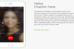 Podrán hacer llamadas por WhatsApp o Messenger de Facebook. Foto:ChatSim. Imagen Por: