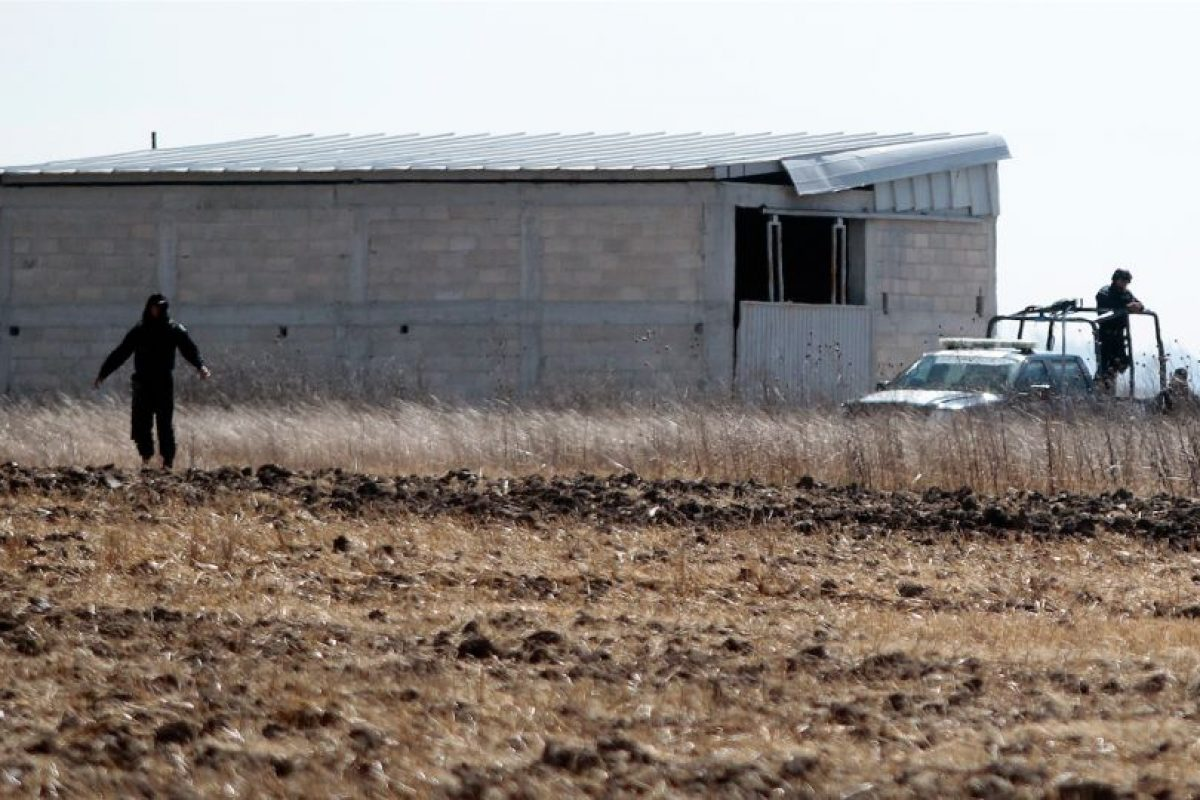 """La casa por la que """"El Chapo"""" salió cuando escapó. Foto:AFP. Imagen Por:"""