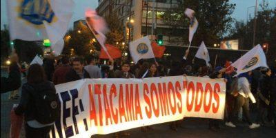 Funcionarios públicos de Atacama llegaron con su protesta al centro de Santiago