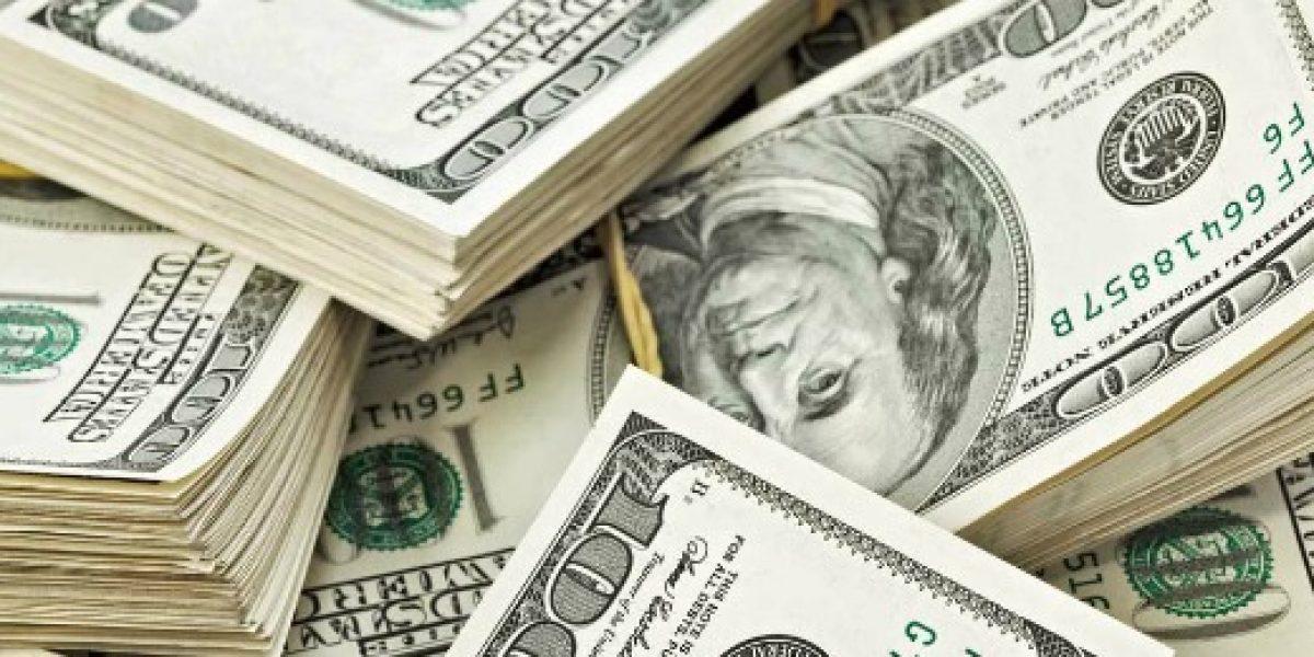 Dólar cierra la jornada al alza, pero no supera la barrera de los $670