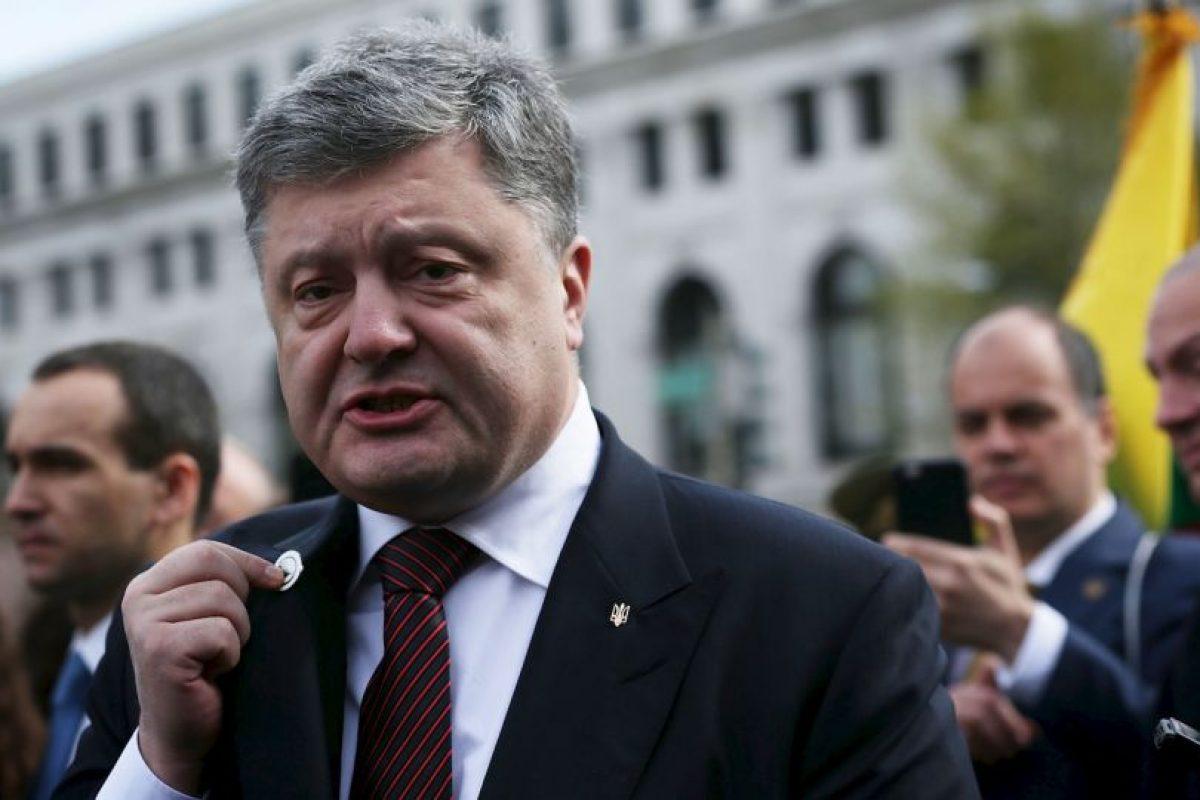 Entre ellos, líderes mundiales como el presidente ucraniano Petro Poroshenko. Foto:Getty Images. Imagen Por: