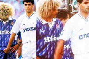 """4. Michel """"manoseó"""" al """"Pibe"""" Valderrama Foto:Vía twitter.com/danielharris. Imagen Por:"""