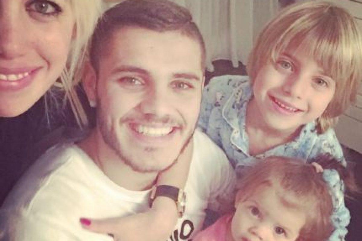 Wanda Nara se quedó con los tres hijos que procreó con Maxi. Foto:Vía instagram.com/mauroicardi. Imagen Por: