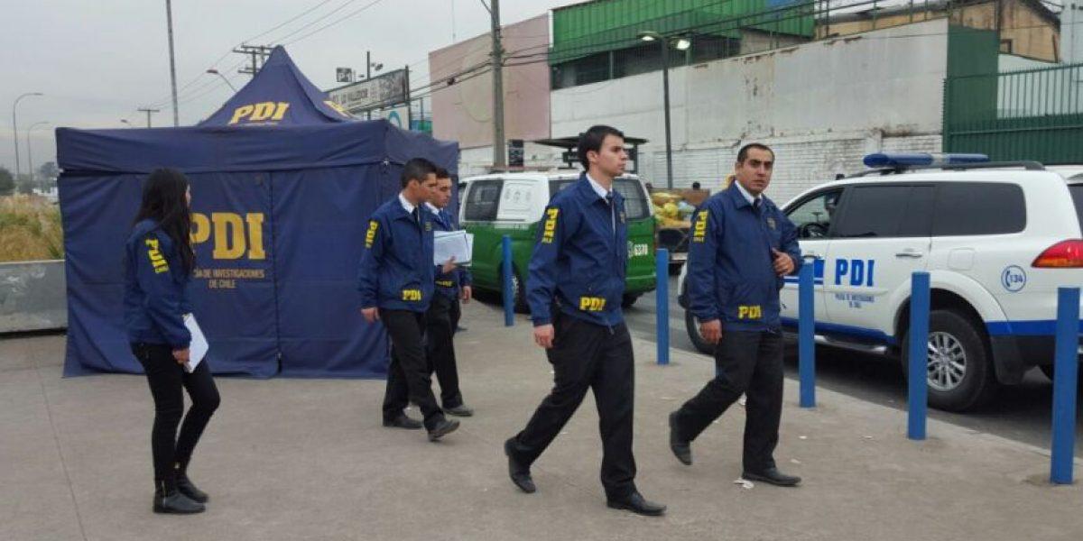 Lo Valledor: PDI investiga hallazgo de cadáver baleado en plena vía pública