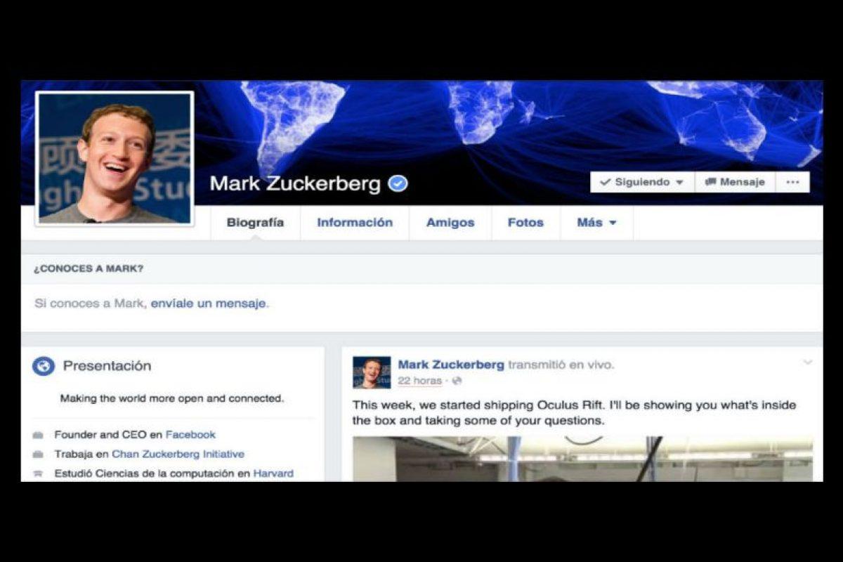 En 2010, el Comité Español de Representantes de Personas con Discapacidad (Cermi) exigió a Zuckerberg que hiciera la red social más amigable para personas discapacitadas. Foto:Facebook. Imagen Por:
