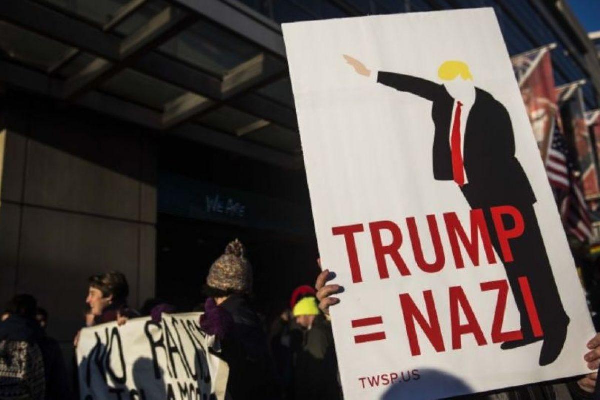 O en lugares donde da discursos de campaña. Foto:Getty Images. Imagen Por: