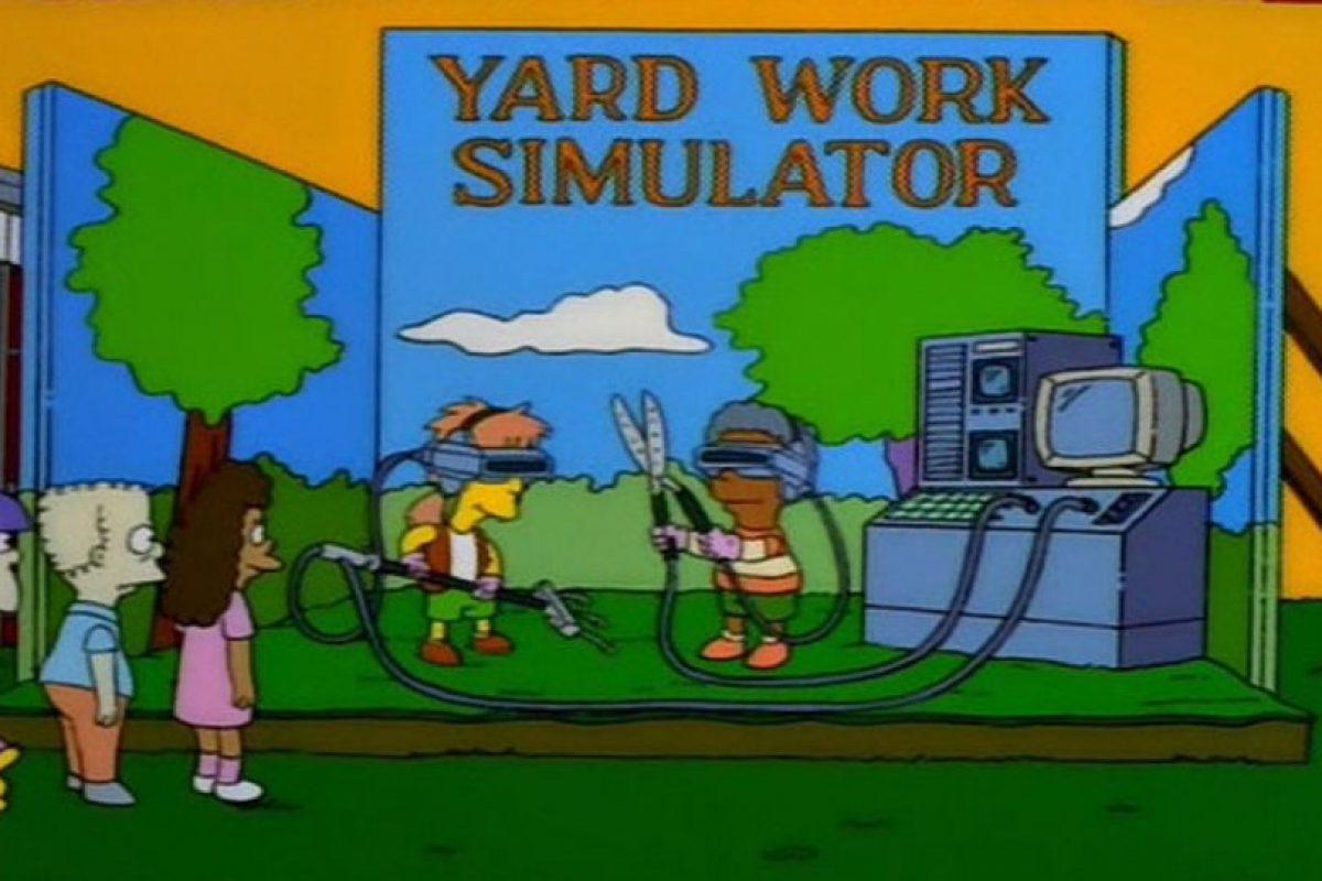 """En 1998, en la temporada 9, episodio 12, """"Bart Carny"""", los niños de Springfield trabajaban en un simulador de jardín, similar al juego Farme Ville. Foto:Fox. Imagen Por:"""