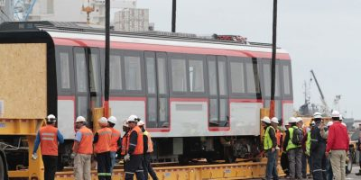 Llegan a Chile los modernos trenes para las nuevas líneas 3 y 6 de Metro