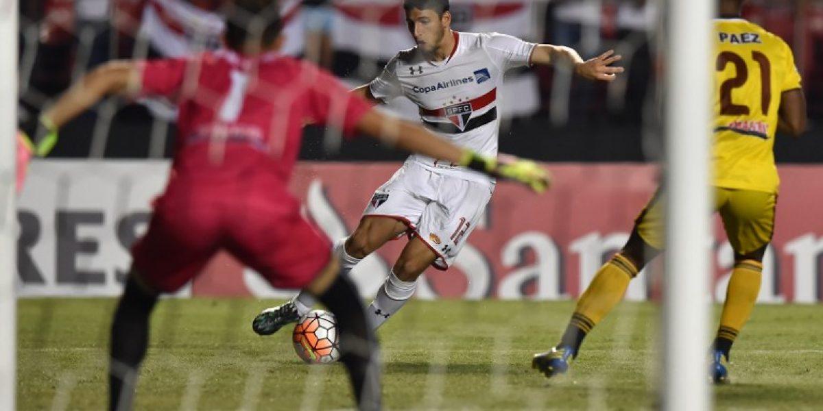 El Queno Mena fue parte de goleada que revive al Sao Paulo en la Libertadores