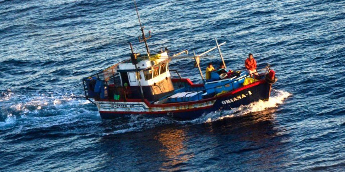 Armada captura embarcación peruana en zona chilena con cerca de 40 tiburones en su interior