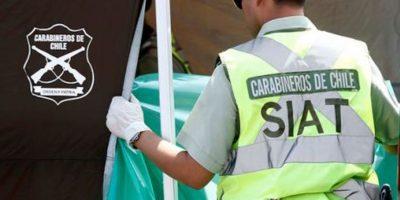 Un muerto y dos personas lesionadas  en volcamiento de vehículo en Buin
