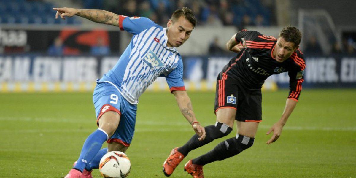 Vargas fue titular en victoria de Hoffenheim que los aleja del descenso en la Bundesliga