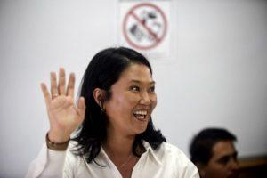 Keiko Fujimori, se colocó en primer lugar. Foto:AFP. Imagen Por: