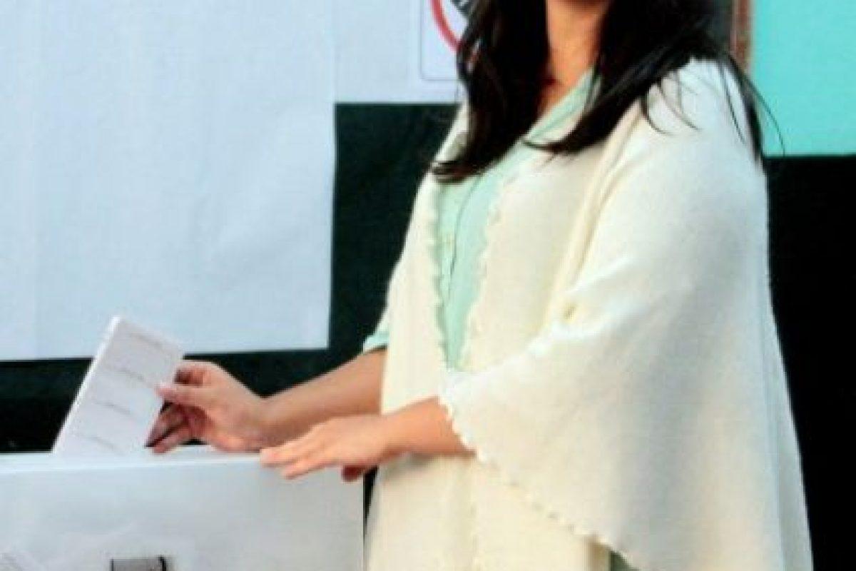Al igual que la congresista y candidata Verónika Mendoza Foto:AFP. Imagen Por: