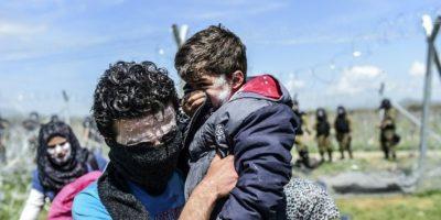 Más de 250 migrantes heridos al intentar cruzar a Macedonia