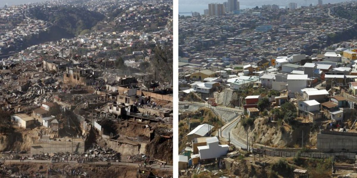 Así se ve Valparaíso a dos años del megaincendio que consumió al puerto