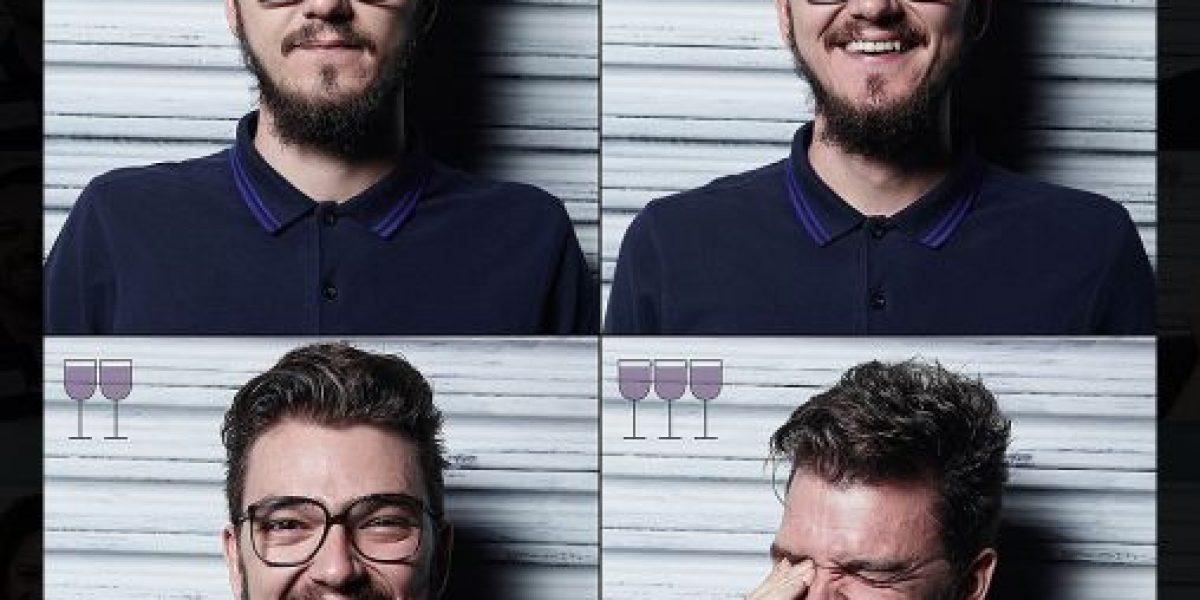 Así cambia su cara después de beber tres copas de vino