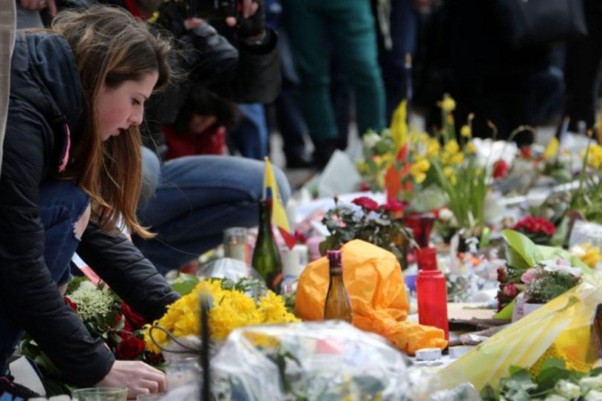 Las muestras de solidadridad con las víctimas de los atentados en Bruselas Foto:Getty Images. Imagen Por: