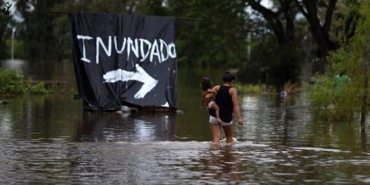 Las lluvias dejan 7.000 evacuados y 15.000 damnificados en el noreste de Argentina