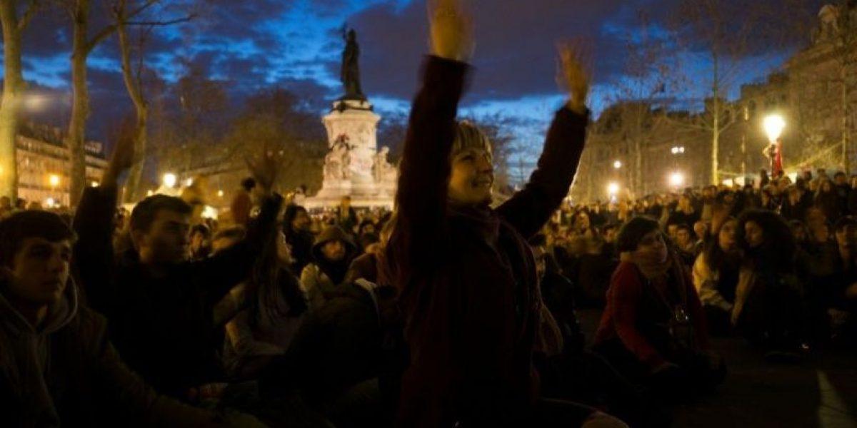 Los manifestantes de