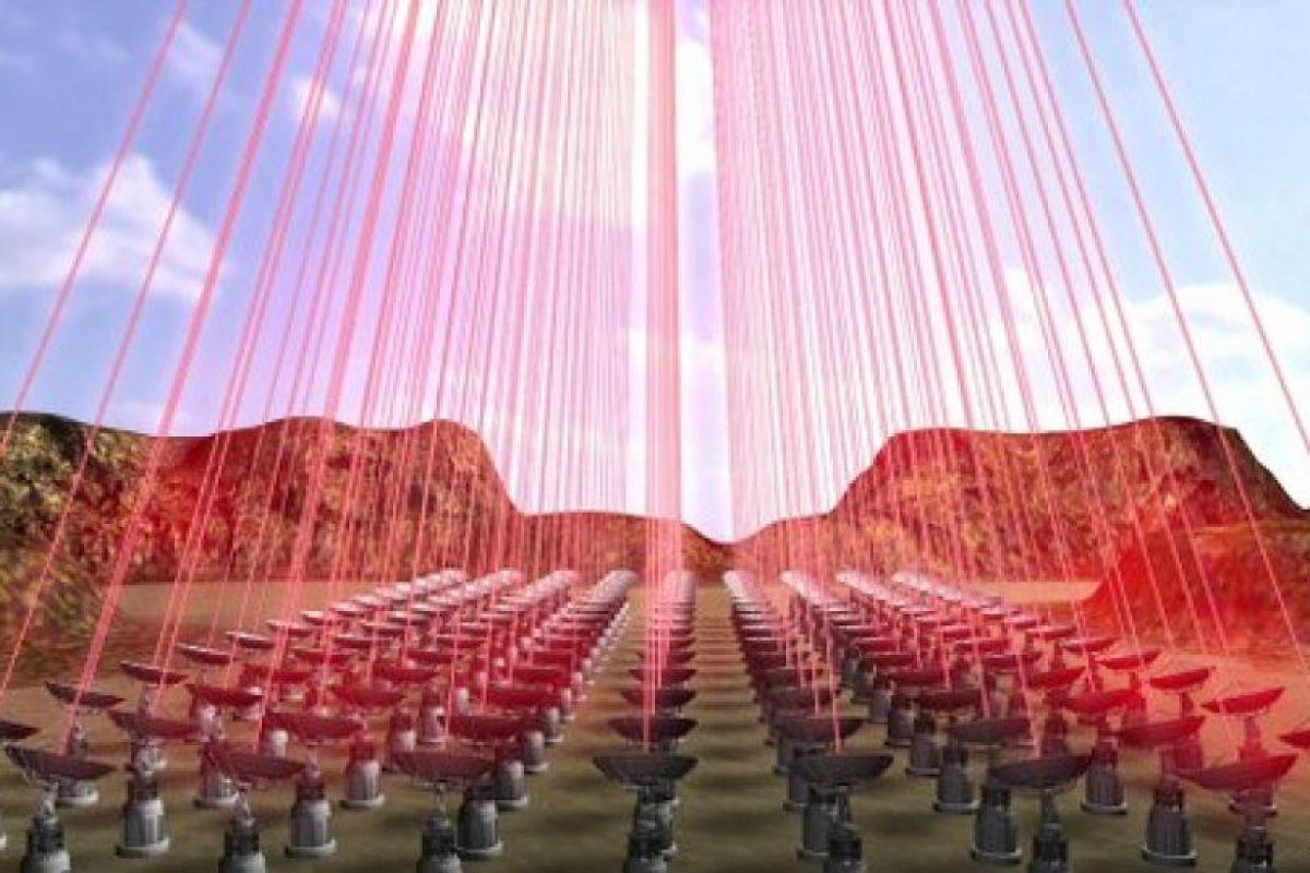 Y propulsada desde la Tierra a través de rayos láser Foto:Twitter.com. Imagen Por: