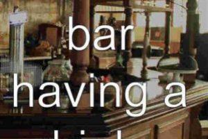 Escenario: en el bar tomando una copa. Foto:Bardis. Imagen Por: