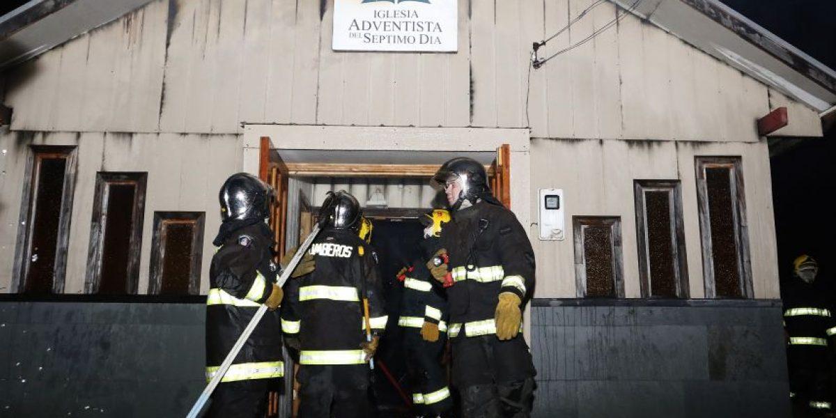 Nuevo ataque incendiario afectó a templo adventista en La Araucanía