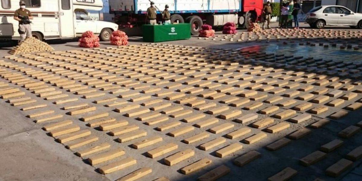 Carabineros incauta una tonelada de droga en dos operativos en Antofagasta