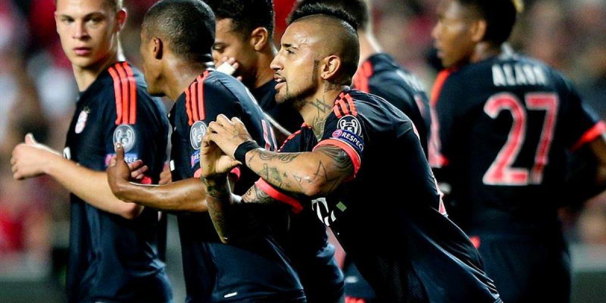 El golazo de Vidal que encaminó el paso del Bayern a semis de Champions