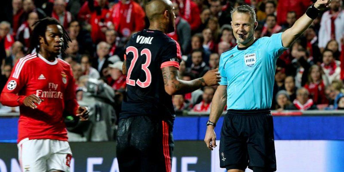 Arturo Vidal volvió a mostrar su olfato goleador y guió al Bayern a las semis de Champions