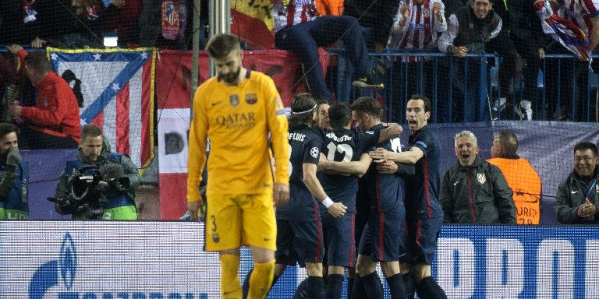 Atlético de Madrid remontó la llave y eliminó al Barcelona de la Champions