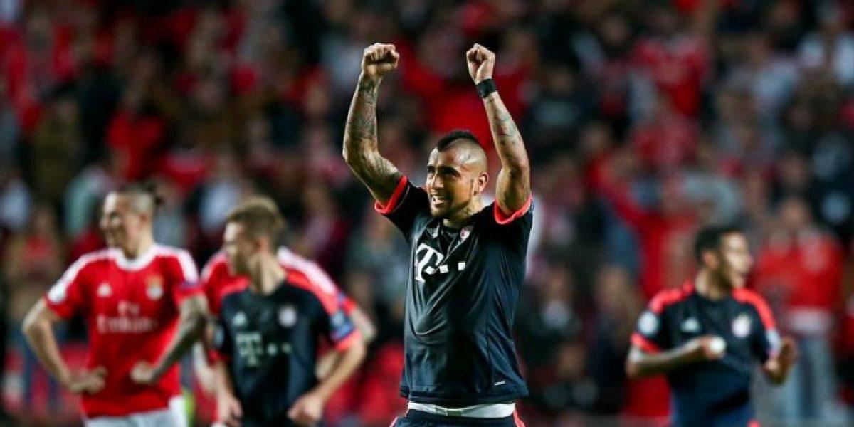 Así vivimos la clasificación del Bayern a semis de la Champions con gol de Vidal