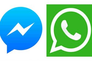 Ambas aplicaciones pertenecen a Facebook. Foto:Messenger/WhatsApp. Imagen Por: