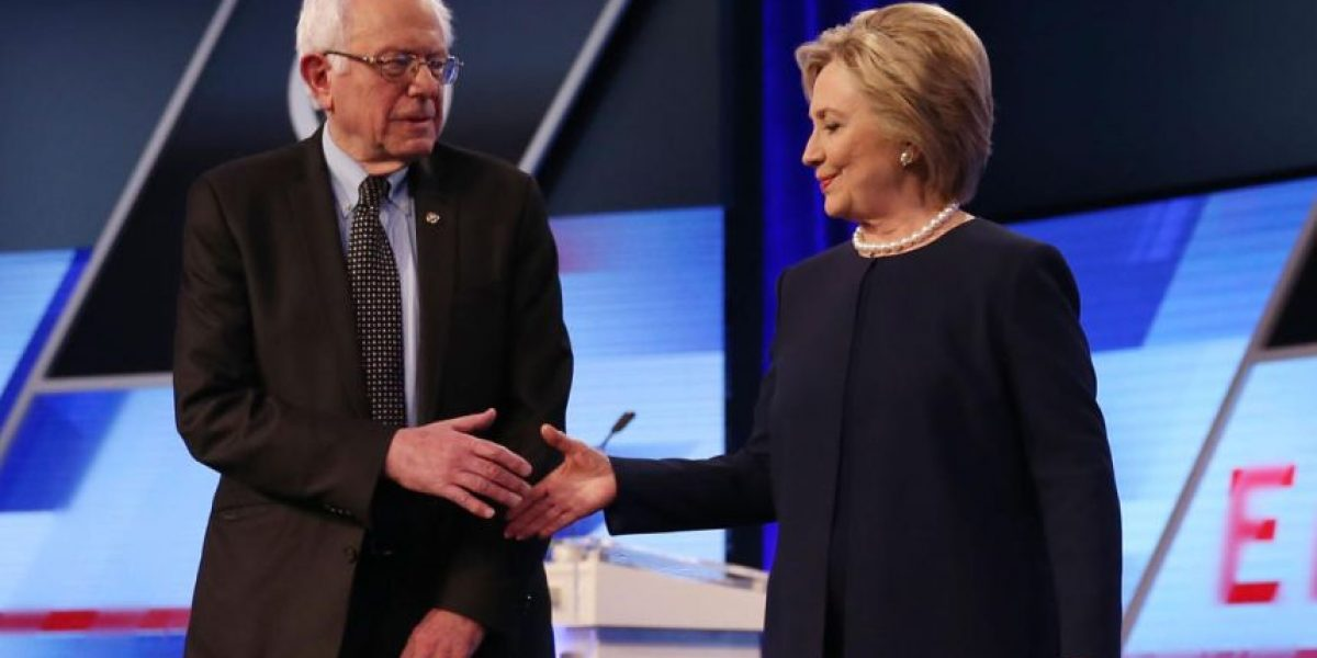 Hillary Clinton y Bernie Sanders se enfrentan hoy cara a cara en Brooklyn