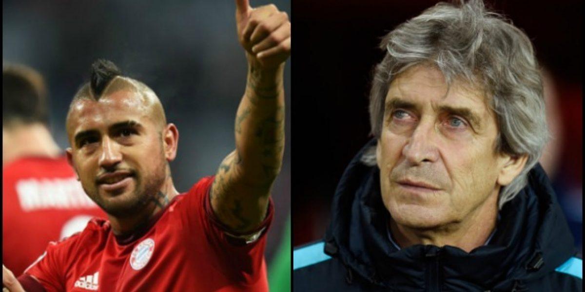 Arturo Vidal y Manuel Pellegrini podrían enfrentarse en la final de la Champions