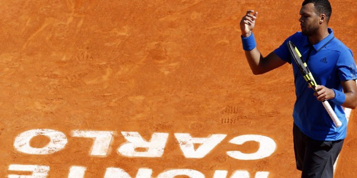 Tsonga cortó el camino de Federer en el Masters 1.000 de Montecarlo