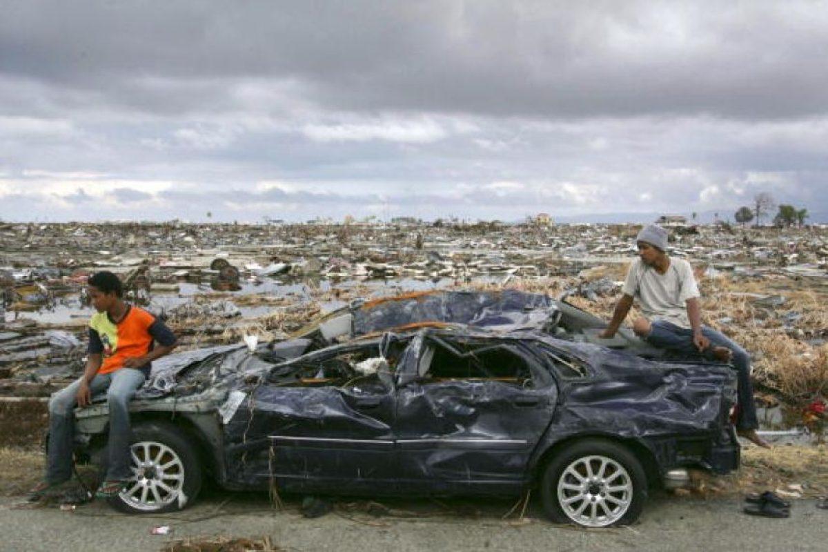 5. 26 de diciembre de 2004, Isla de Sumatra, Indonesia: El tsunami más letal de la historia con una magnitud de 9.1. Foto:Getty Images. Imagen Por: