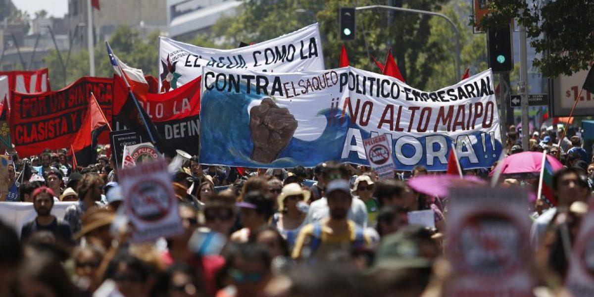 Activistas del Cajón del Maipo y corte de agua: