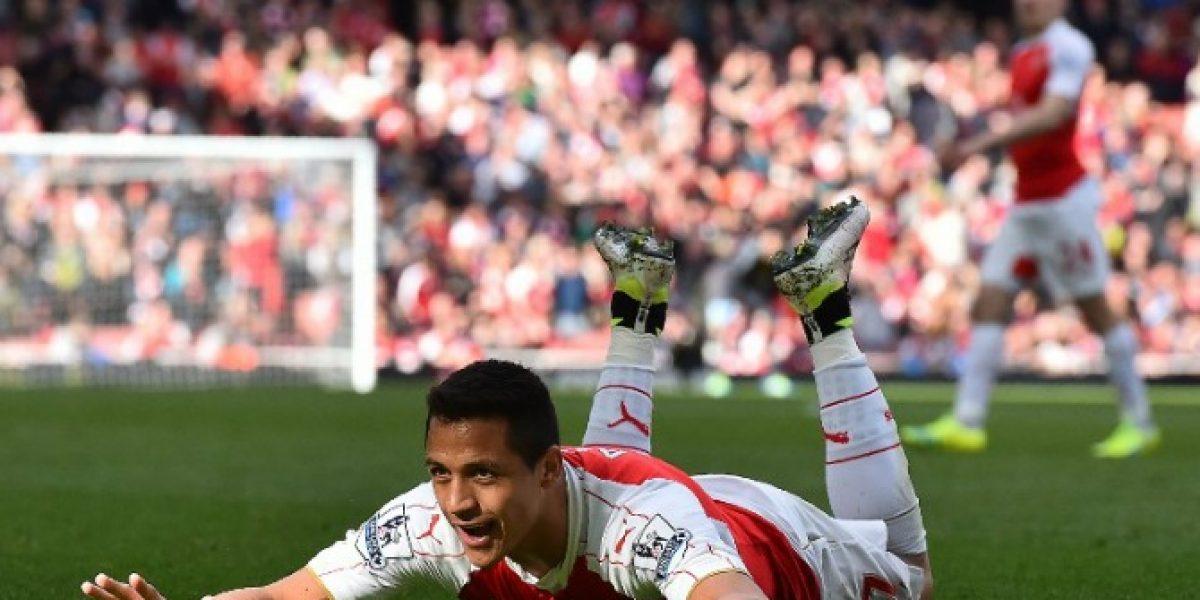 ¡A lo Zamorano! El gol con el que Alexis Sánchez abrió la cuenta ante Crystal Palace