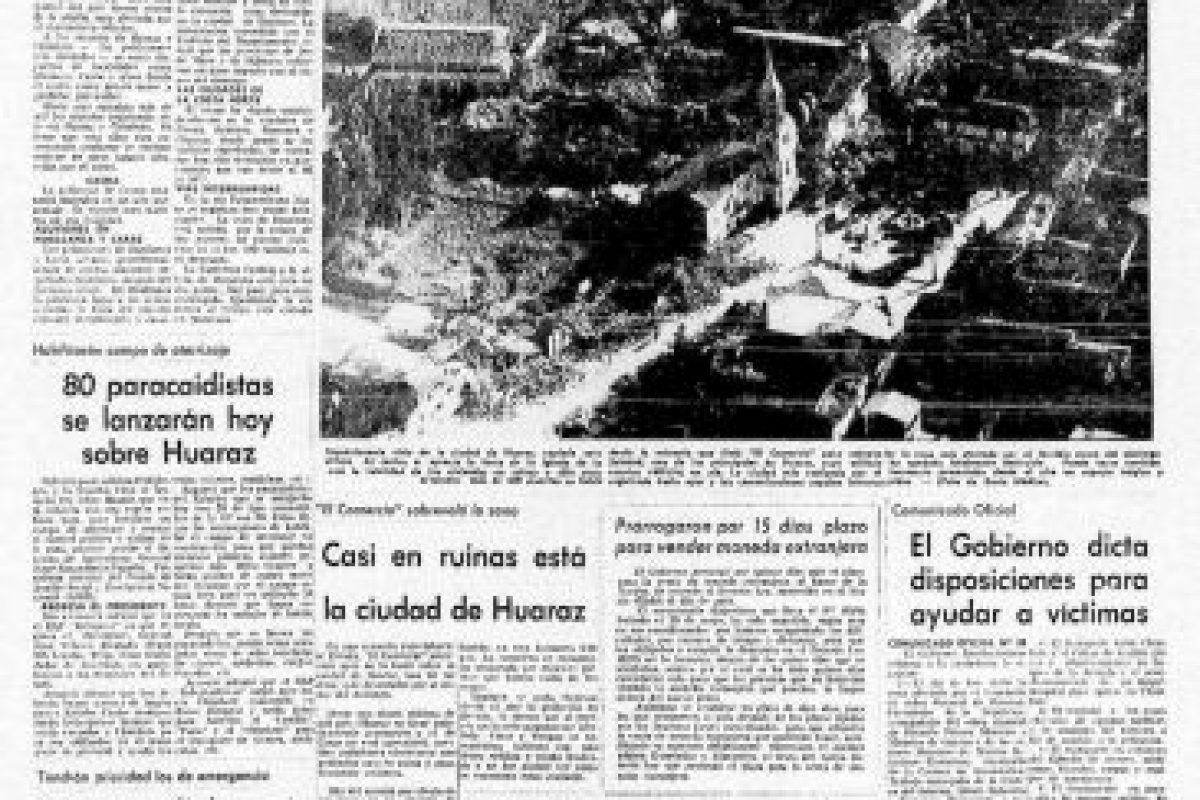 3. 31 de mayo de 1970, Chimbote, Perú: : Más de 50 mil personas fallecidas dejó el terremoto con magnitud de 7.9. Foto:Arkivperu.com. Imagen Por: